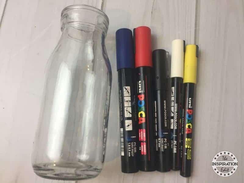 superhero crafts a milk bottle and posca pen supplies