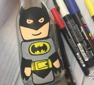 Batman Superhero Bottle Painting For Kids