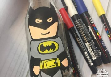 Batman Superhero Bottle Painting For Kids