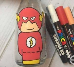 The Flash Avengers Bottle Painting For Kids