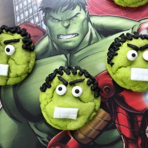 Hulk Cookies Party Food Idea Recipe And Tutorial