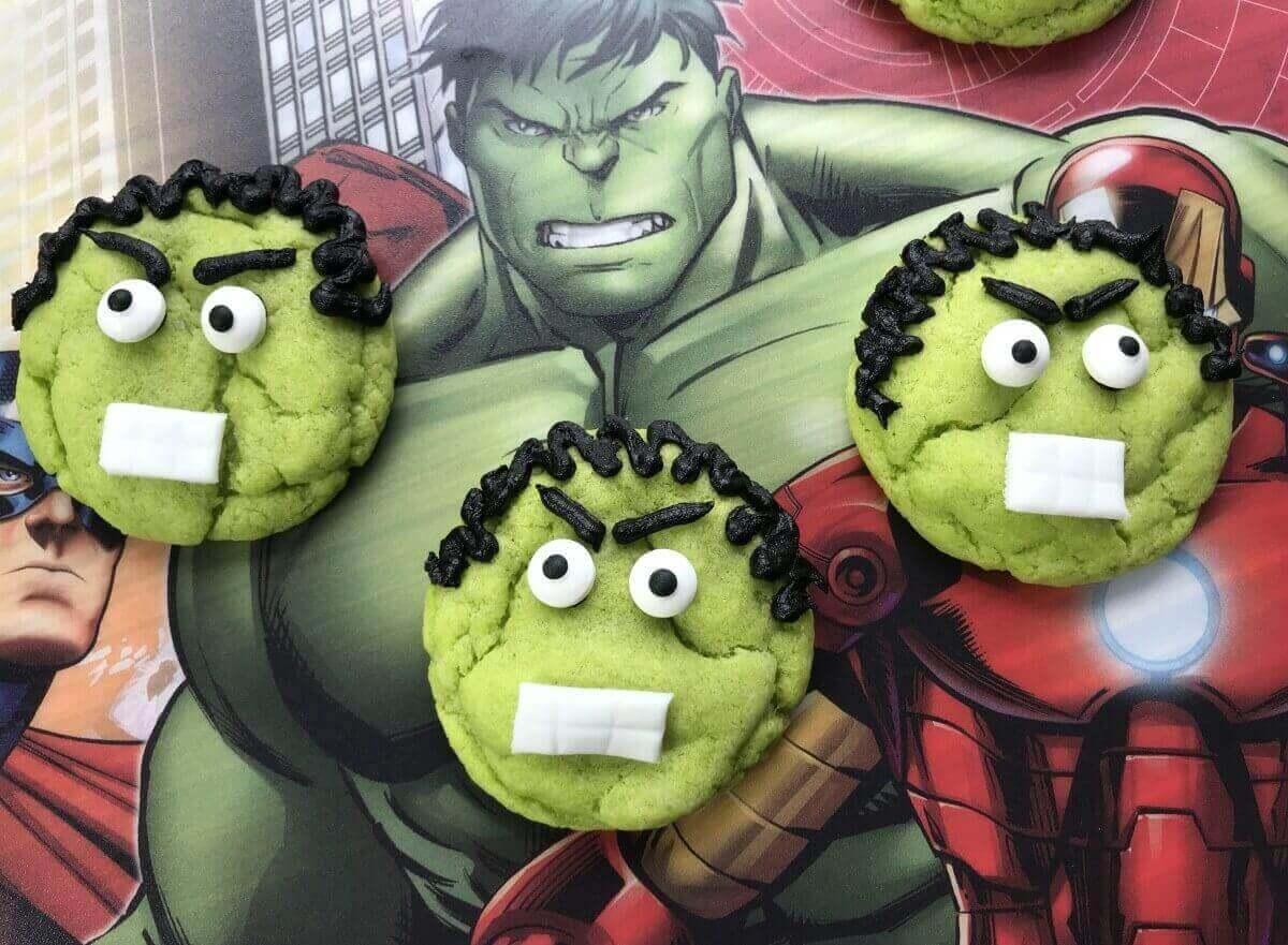 Hulk Cookies For Superhero Parties