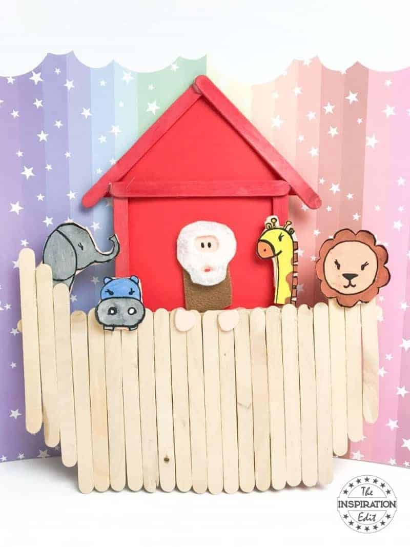 Noah's Ark Art Popsicle Stick Craft