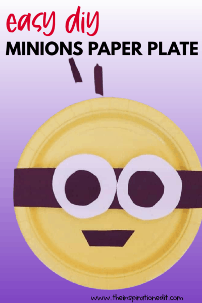 MINIONS PAPER PLATE