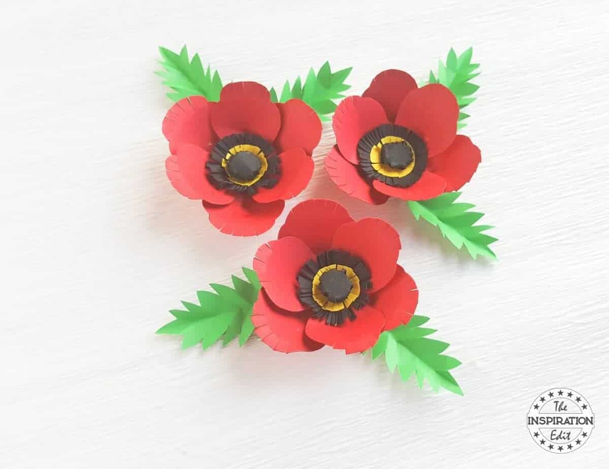 craft inspiration ideas poppy flower with poppy craft template 183 the inspiration edit 1572