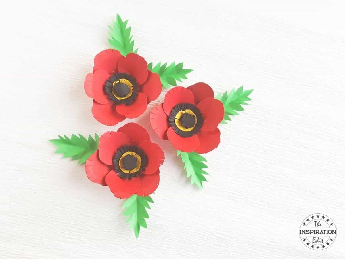 Poppy flower with poppy craft template the inspiration edit poppy day poppy craft mightylinksfo