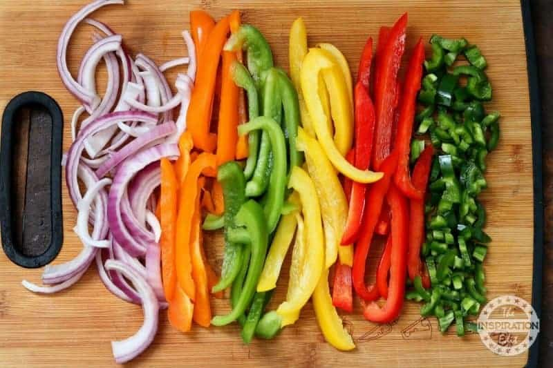 Low fat fajitas recipe using coloured vegetables zero weight watchers points
