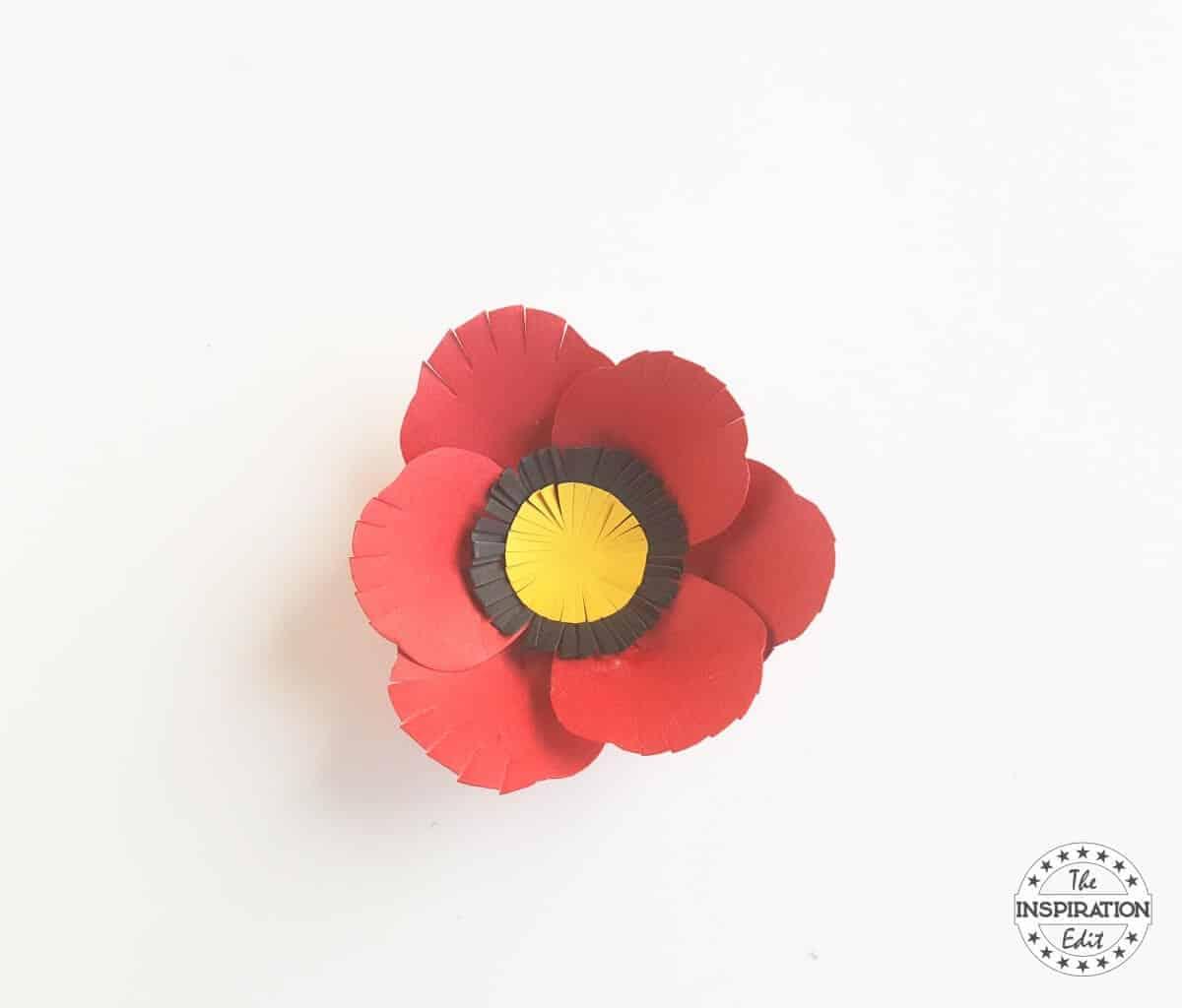 Poppy flower with poppy craft template the inspiration edit making a poppy flower using a poppy craft template mightylinksfo