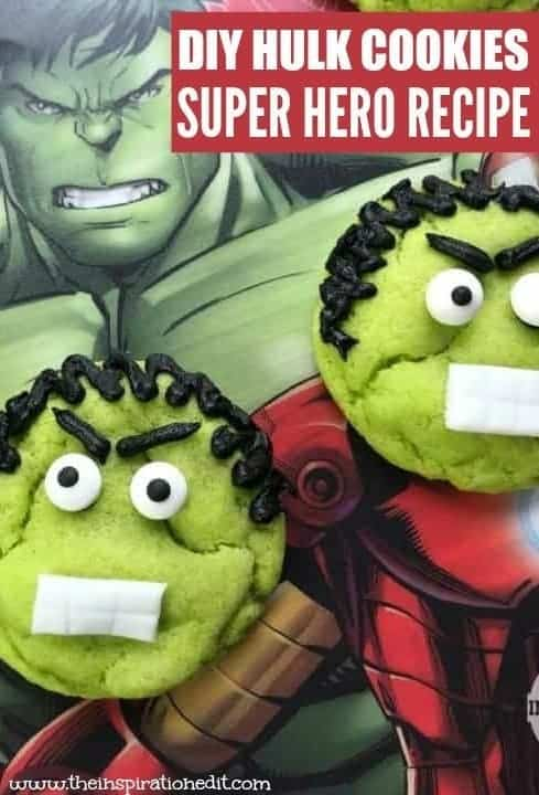 Hulk Cookies For Superhero Parties