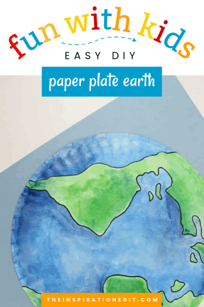 paper plate earth