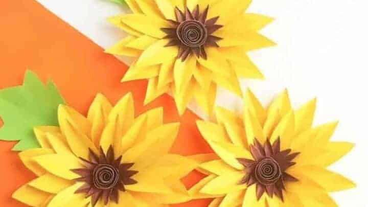 sunflower paper craft