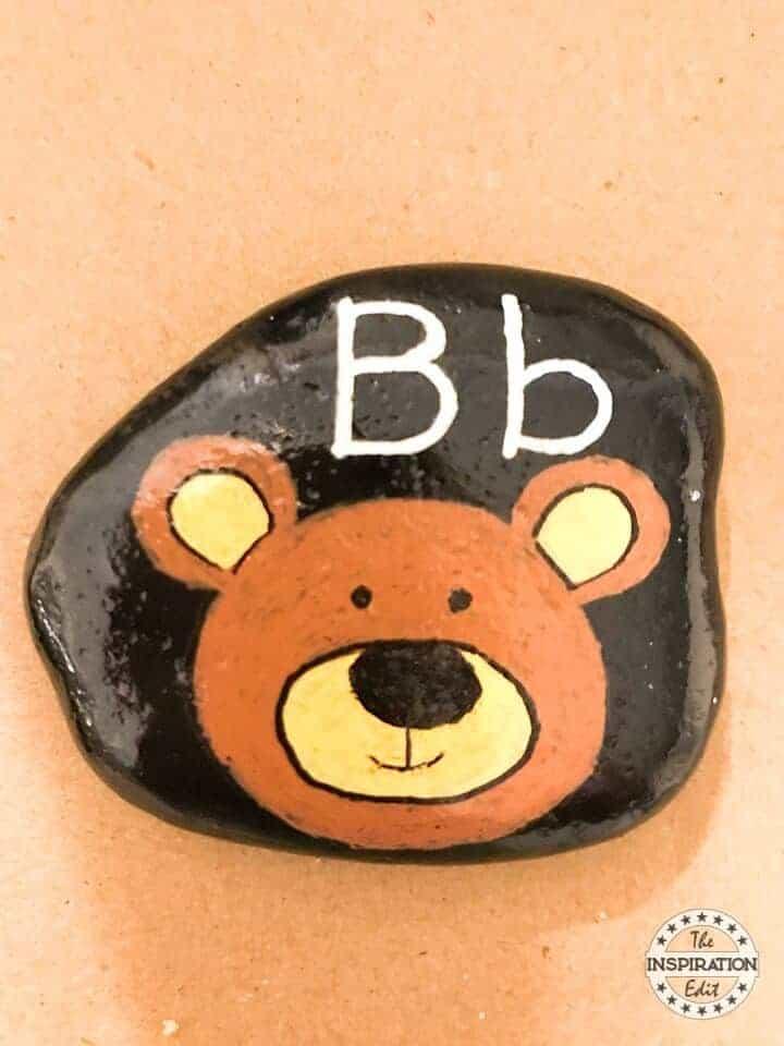 letter B rock stone