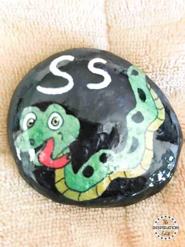 snake rock stone