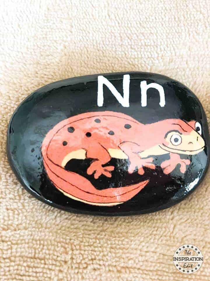 letter N rock stone