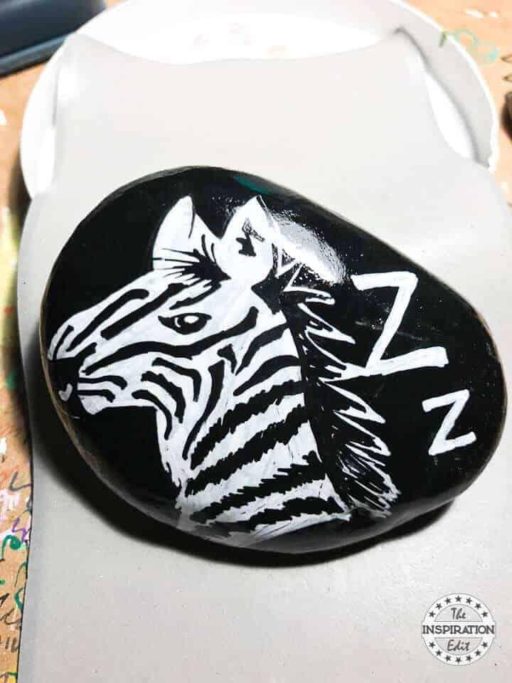 zebra rock stones