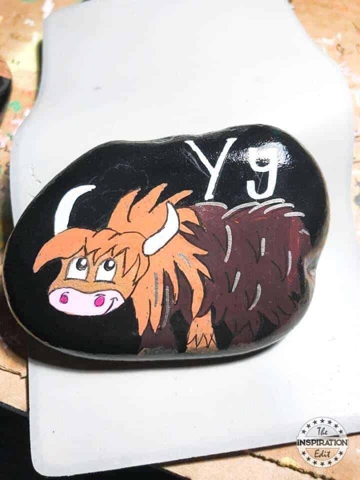 letter Y rock stone