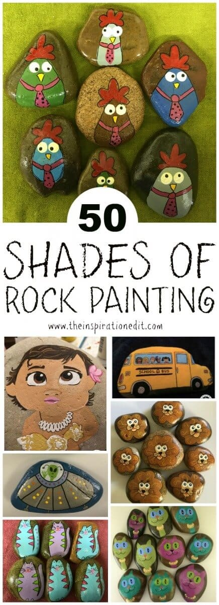 50 SHADES OF ROCK PAINTING