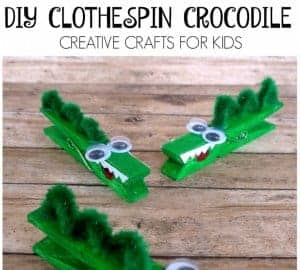 clothespin crocodile craft