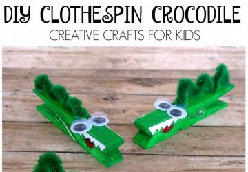 clothespin crocodile craft
