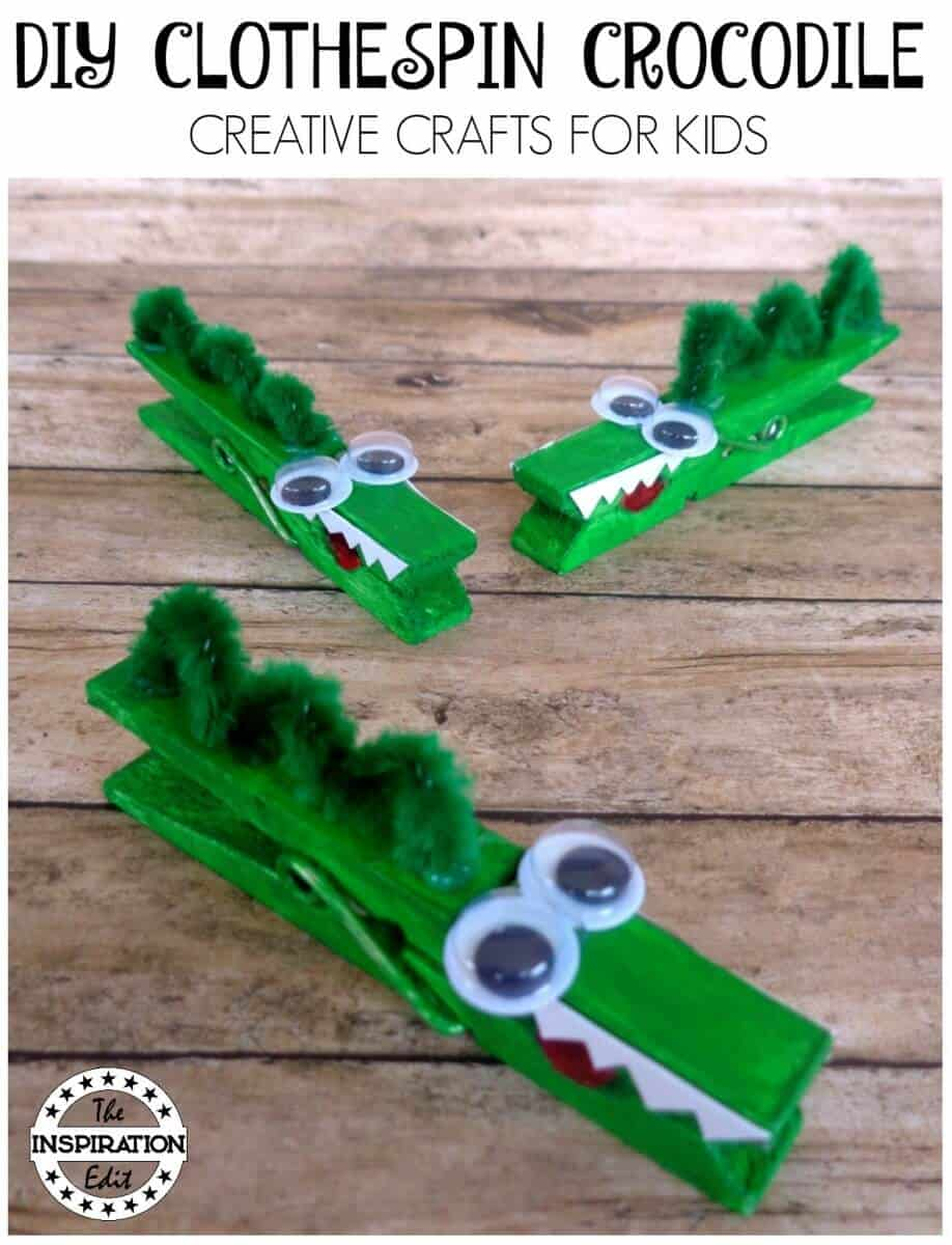 How To Make A Clothespin Craft Crocodile Craft The Inspiration Edit