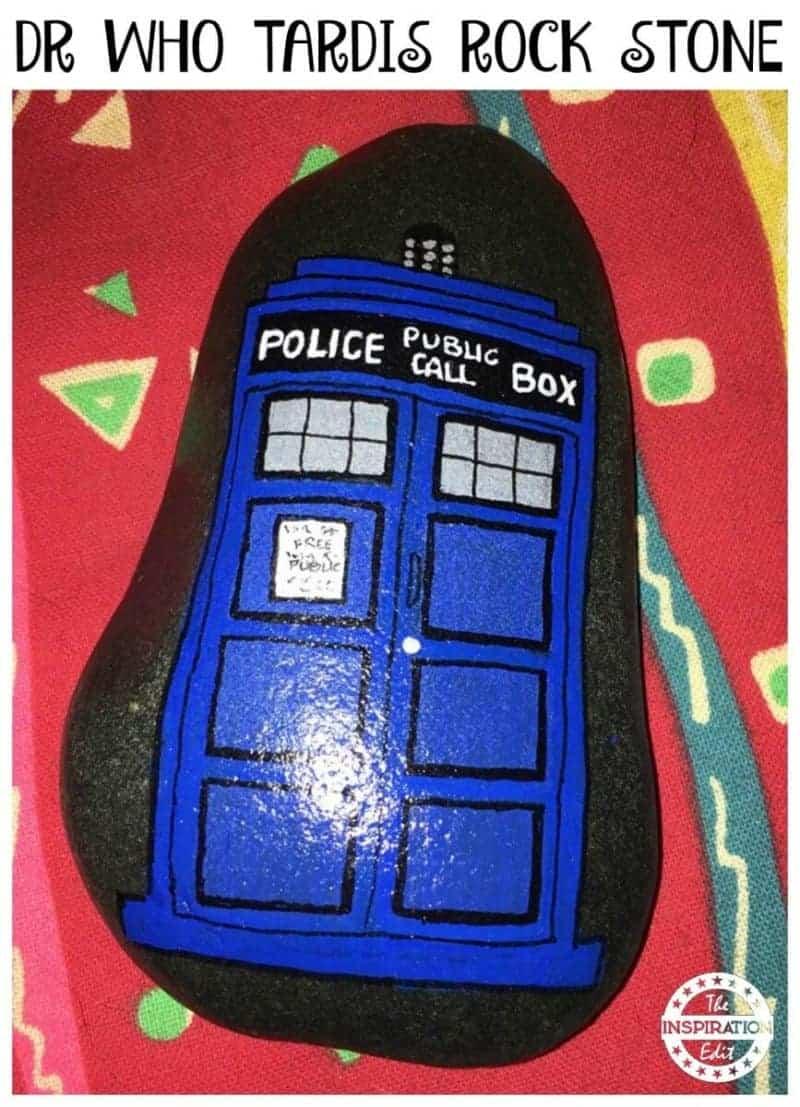 DR WHO TARDIS ROCK STONE