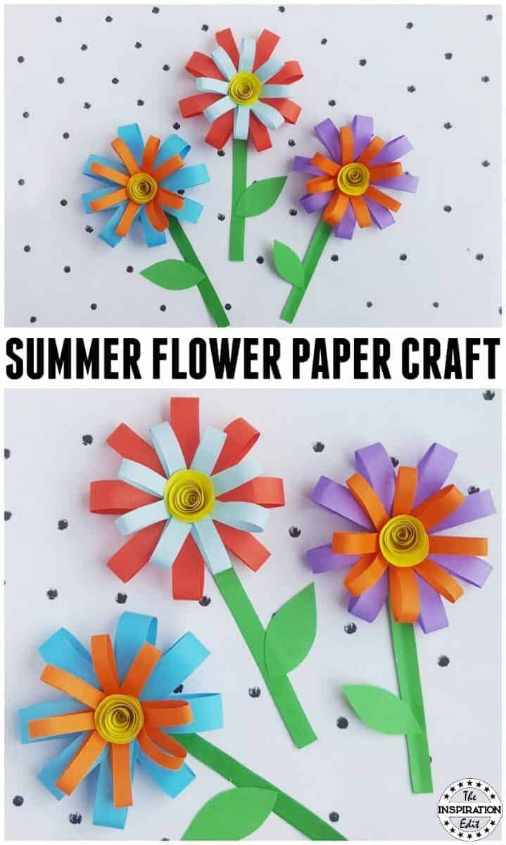 Kids Summer Paper Flower Craft The Inspiration Edit