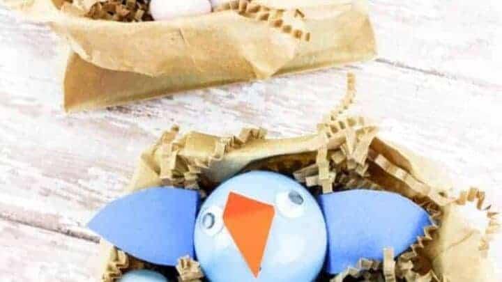 birds in a nest craft