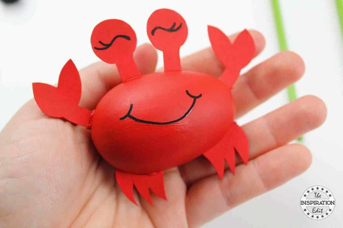 wooden egg crab craft