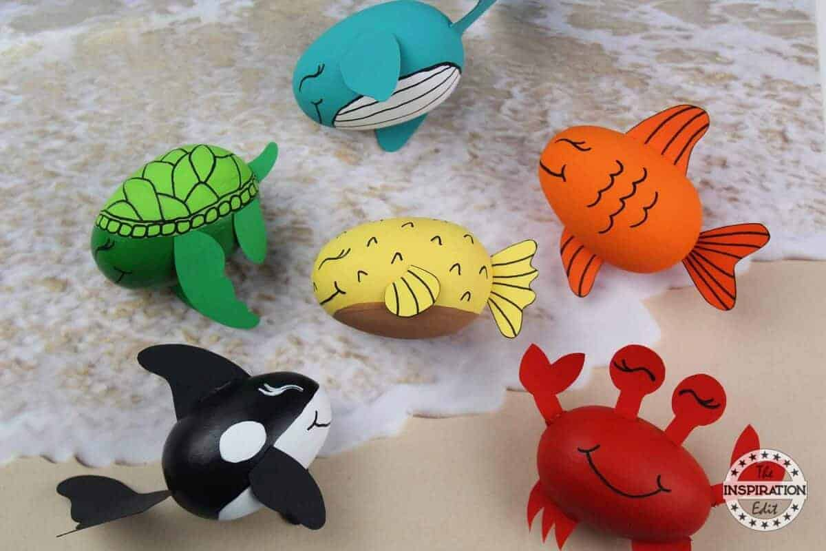 ocean shark and crab craft