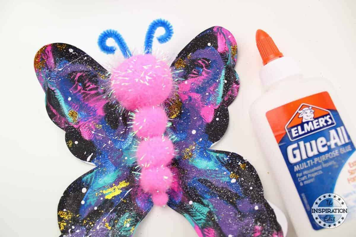 galaxy blot butterfly craft
