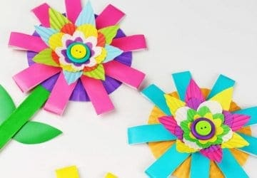 kids flower craft for preschool
