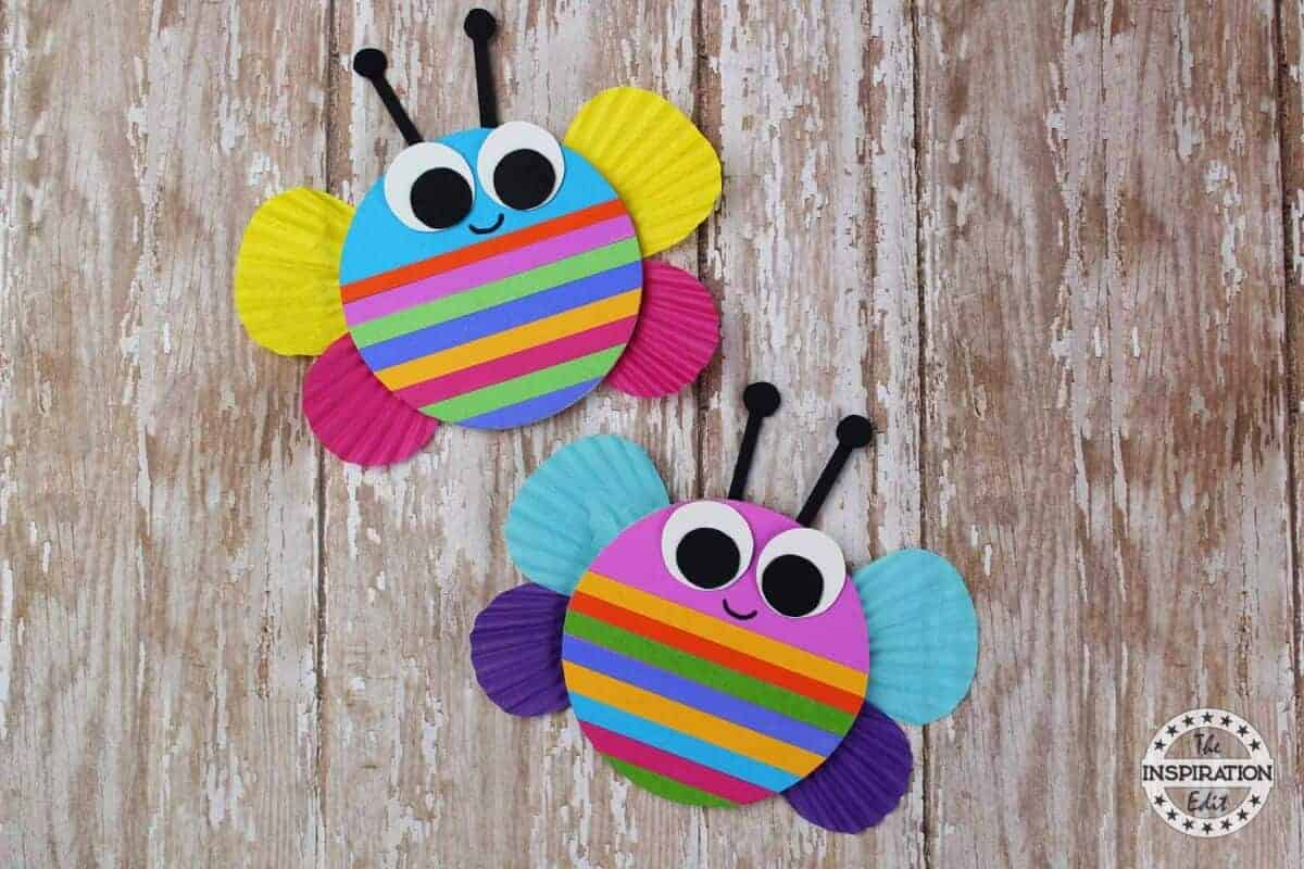 Chunky Rainbow Butterfly Craft For Kids The Inspiration Edit