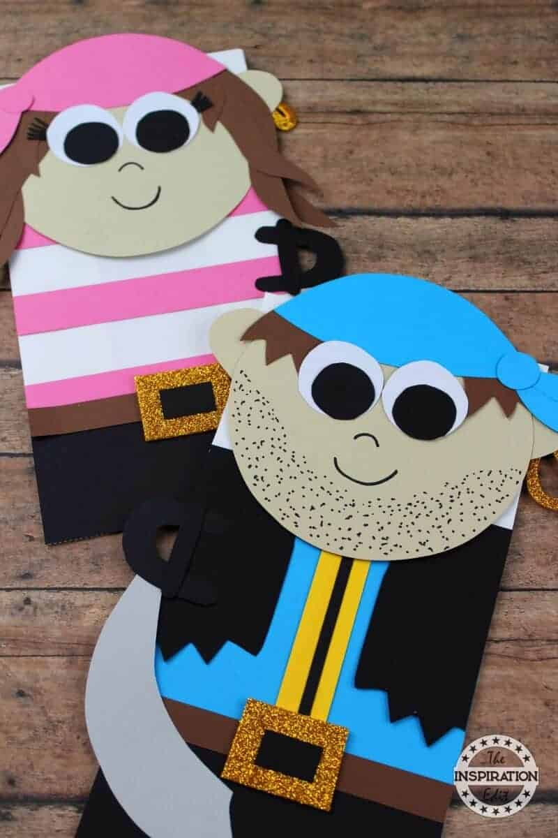 Paper Bag Pirate Puppets Kids