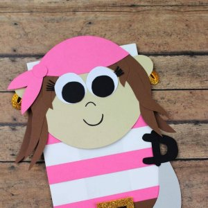paper bag pirate puppet