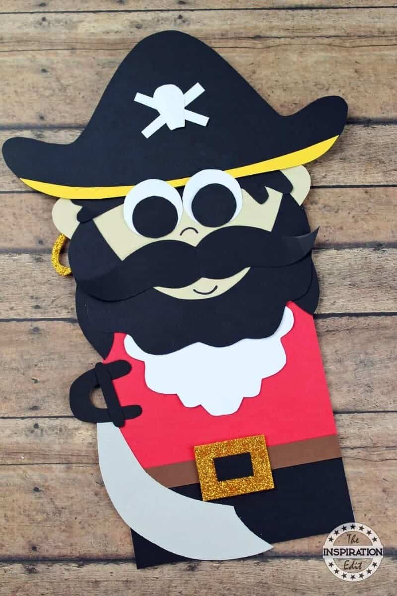 Captain Hook Paper Bag Pirate Puppet