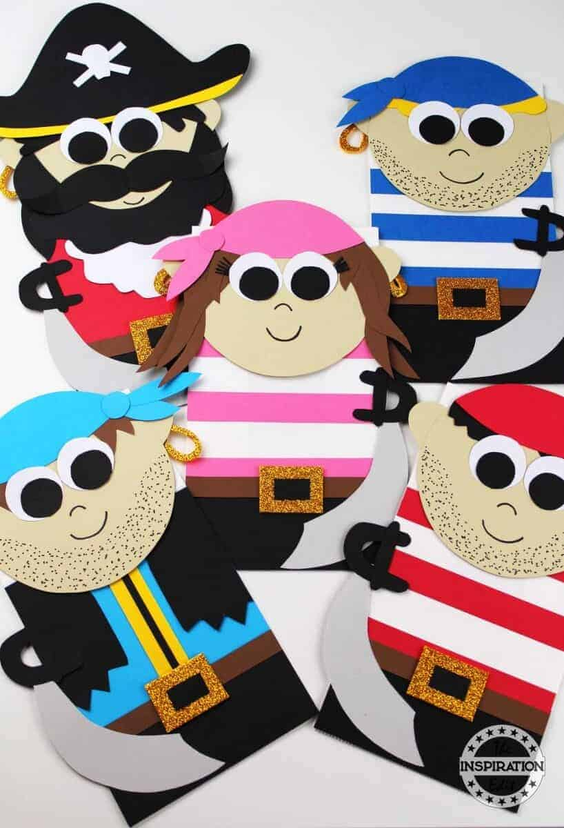 paper bag pirate puppet