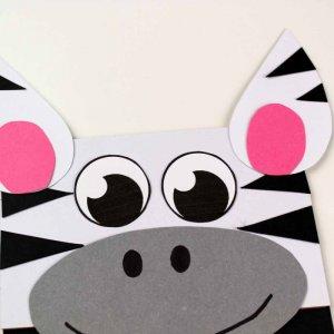 zebra paper bag craft