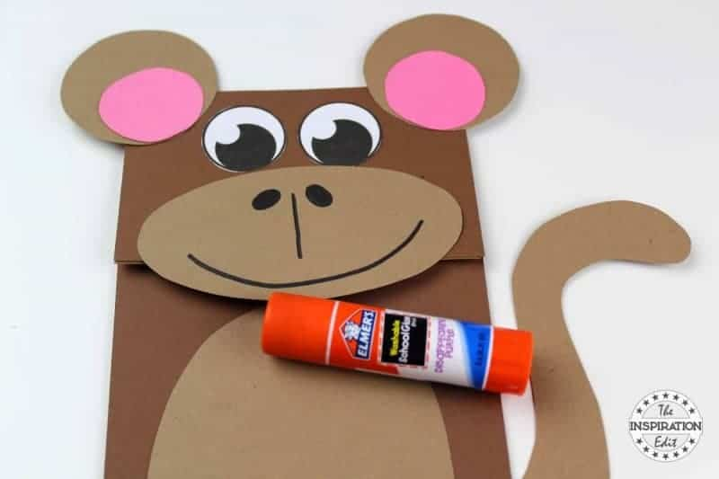 Monkey Puppet Craft PAPER BAG puppet MONKEY craft