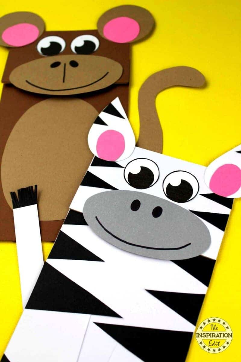 zebra paper bag craft