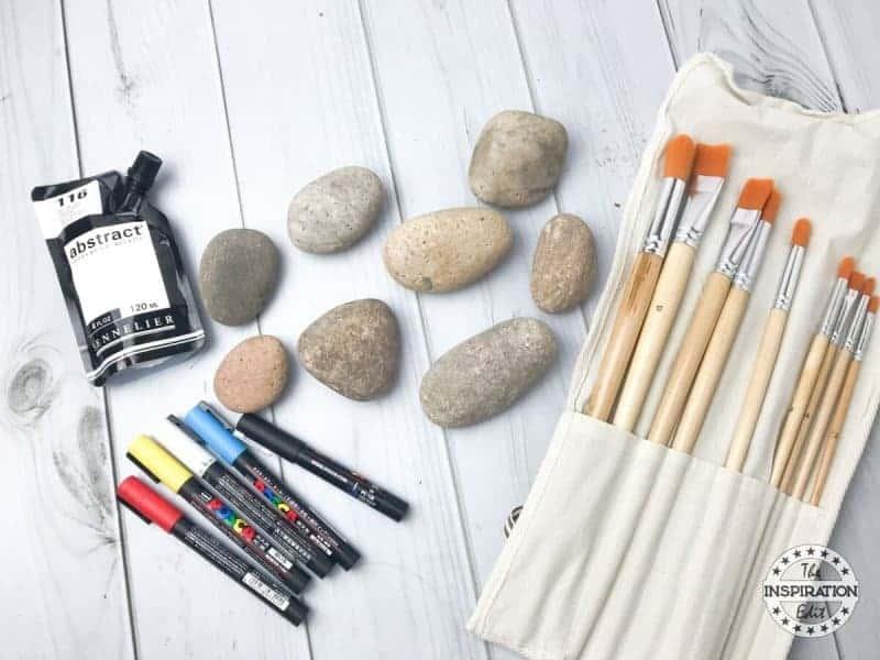 halloween craft Ghost Rock Stones rock painting supplies