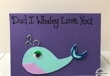 whale Fathers Day Card