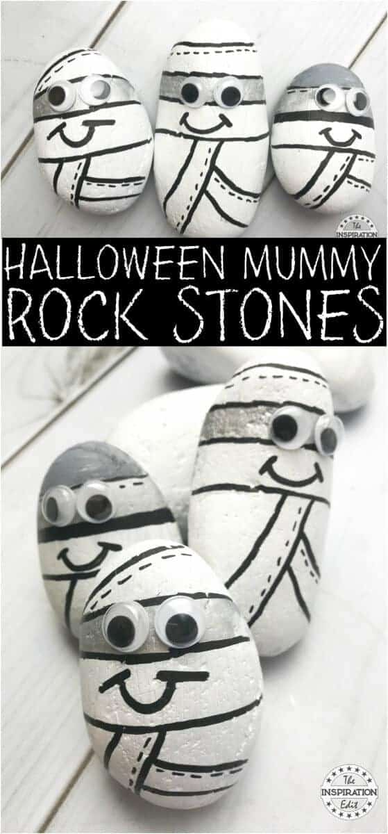 Halloween Craft Ideas halloween mummy stones