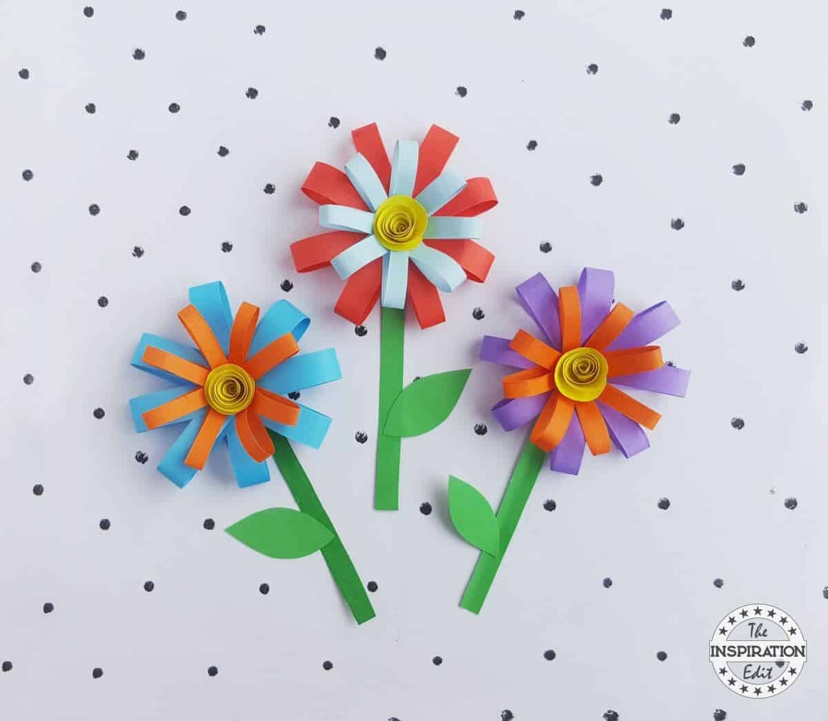 Kids Summer Paper Flower Craft The Inspiration Edit