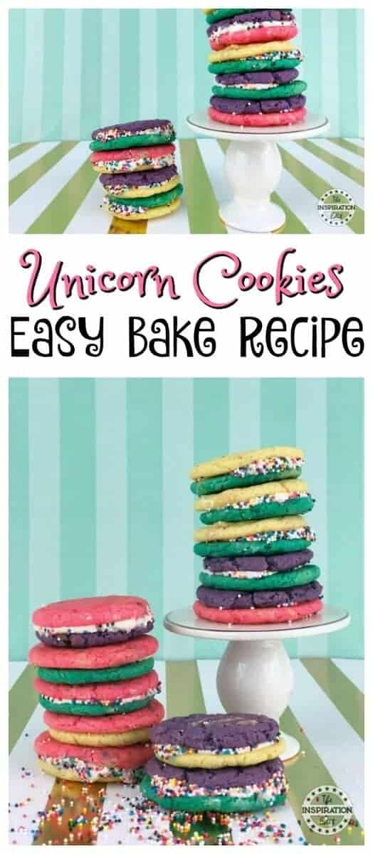 Unicorn Cookies Easy Bake Recipe