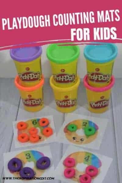 playdoh counting mats