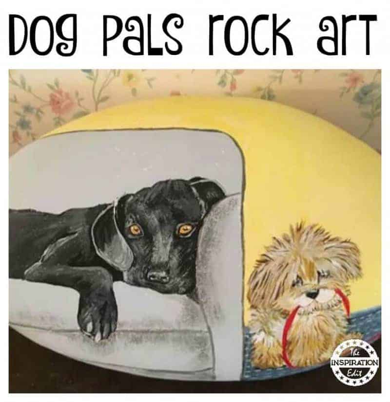 dog pals rock painting