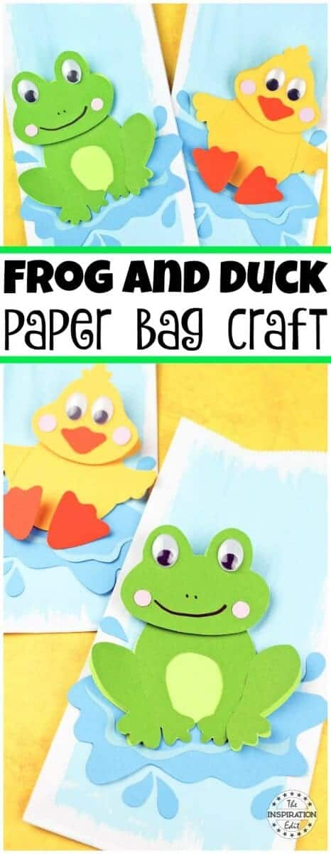 Duck and frog paper bag craft