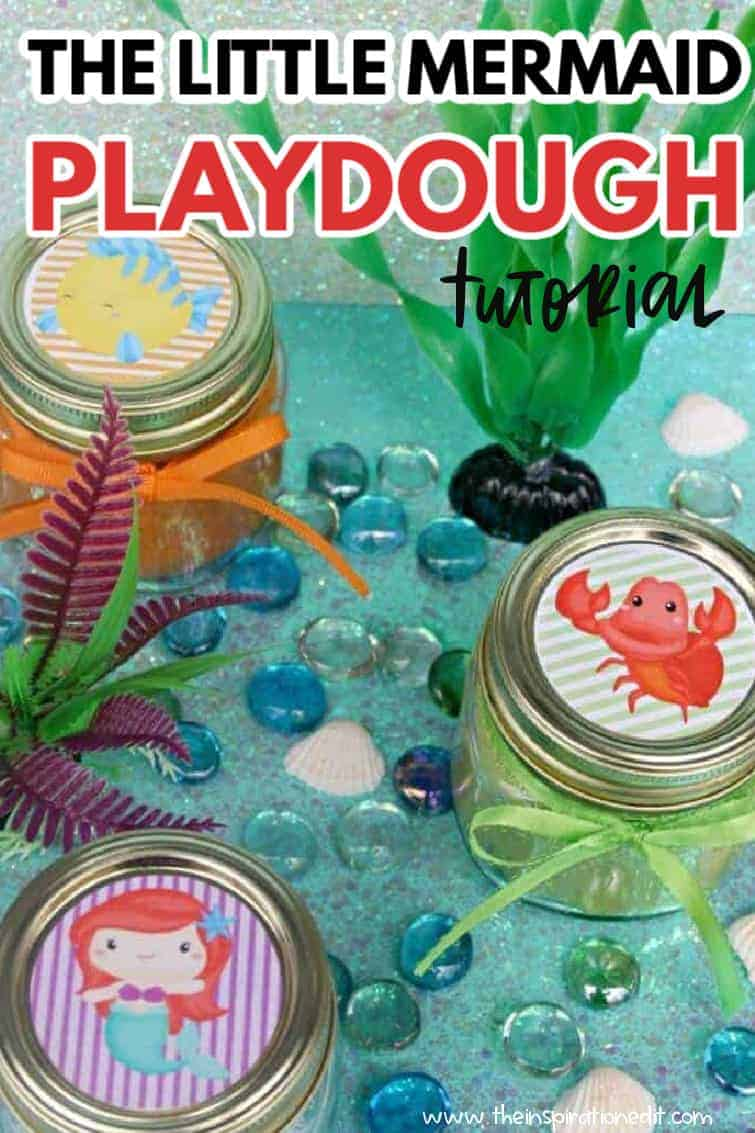 little mermaid playdough tutorial
