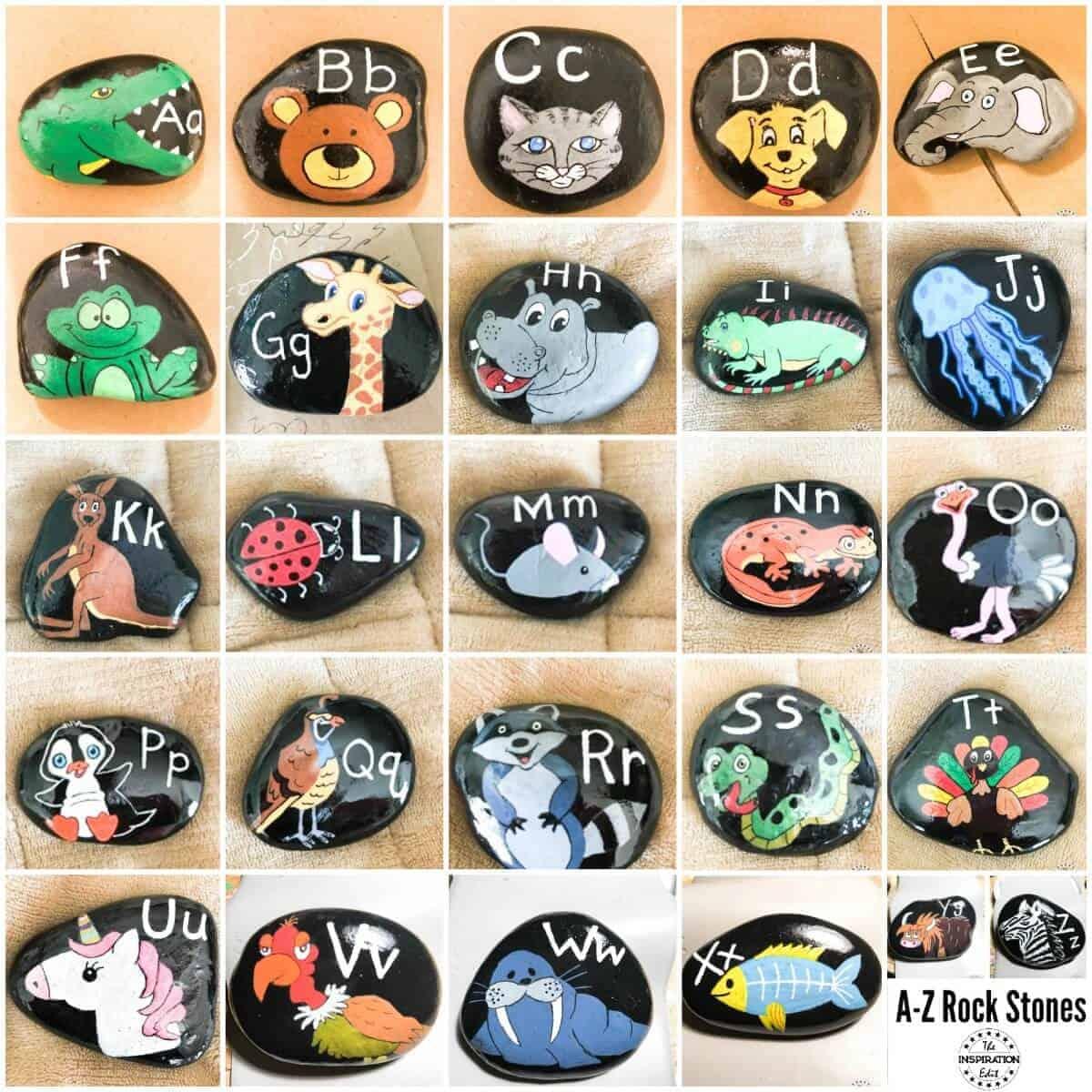 painted alphabet stones