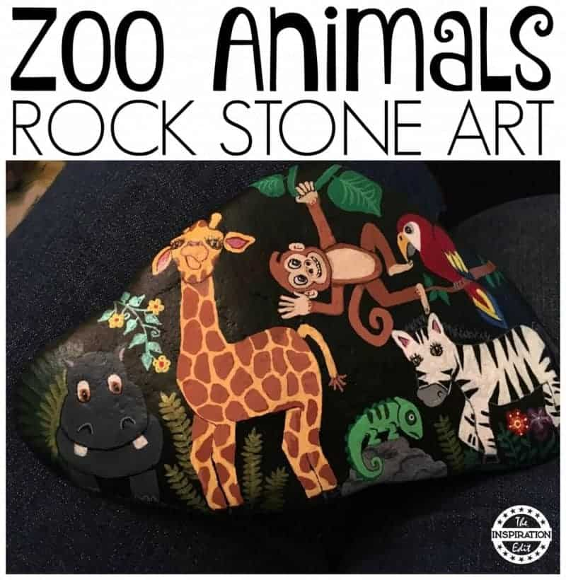 zoo animal rock stones art